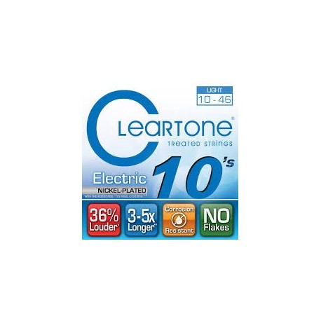 Cleartone 9410 Nichel Plated 010-046 Muta Corde Chitarra Elettrica