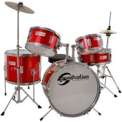 Soundsation JDK516-MR Batteria Completa Bambino Red