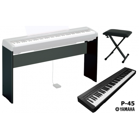 yamaha p45 digital piano stand l85 panchetta artemusica di motto ros roberto. Black Bedroom Furniture Sets. Home Design Ideas