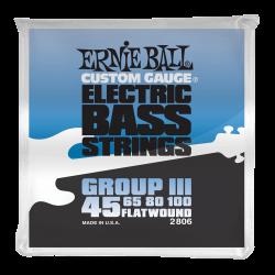 Ernie Ball GIII Flatwound 2806 045-100 Muta Corde Basso Elettrico