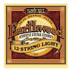 Ernie Ball Earthwood 80/20 Bronze 2010 009-046 Muta 12 Corde Chitarra Folk