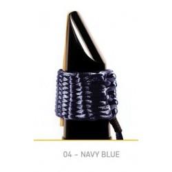 Bambù AB04 Navy Blue Legatura Tela Sintetica Baritone Saxophone/Bass Clarinet