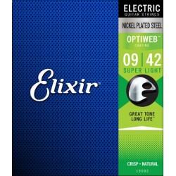 Elixir 19002 Optiweb 009-042 Muta Corde Chitarra Elettrica Coating