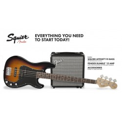Squier Affinity Precision Bass Pack R15V3 Brown Sunburst 230V