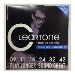 Cleartone 9409 Tribute Buddy Holly Nichel Plated 009-042 Muta Corde Chitarra Elettrica