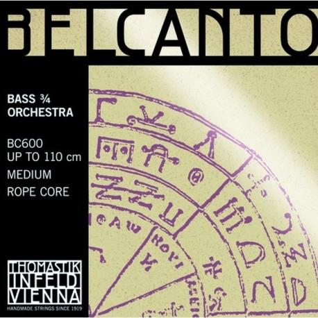 Thomastick BC600 Set Belcanto per Contrabbasso Orchestral 3/4