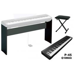 Yamaha P45 Digital Piano + Stand L85 + Panchetta