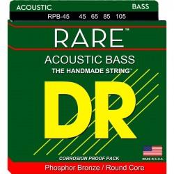 DR Rare RPB45 045-105 Muta 4 Corde Basso Acustico Phosphor Bronze