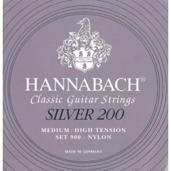 Hannabach 900 Muta Corde Chitarra Classica Tensione Medio/Forte Silver 200