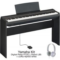 Yamaha P125 Digital Piano + Stand L85 + Cuffia Hph50
