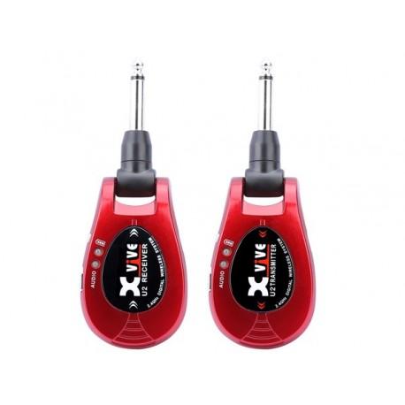 Xvive U2 Red Wireless System per Chitarra e Basso