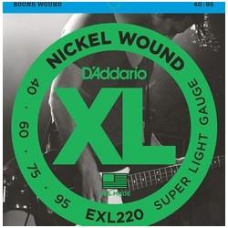 D'Addario EXL220 040-095 Muta Corde Basso Elettrico