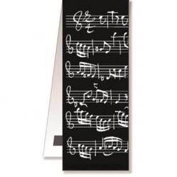 Vienna World Segnalibro Magnetico Black Note Musicali