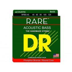 DR Rare RPB5-45 045-125 Muta 5 Corde Basso Acustico Phosphor Bronze