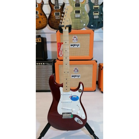 Fender Stratocaster J. Vaughan Tex Mex Candy Apple Red