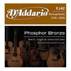 D'Addario EJ42 Phospore Bronze Muta Corde Resophonic