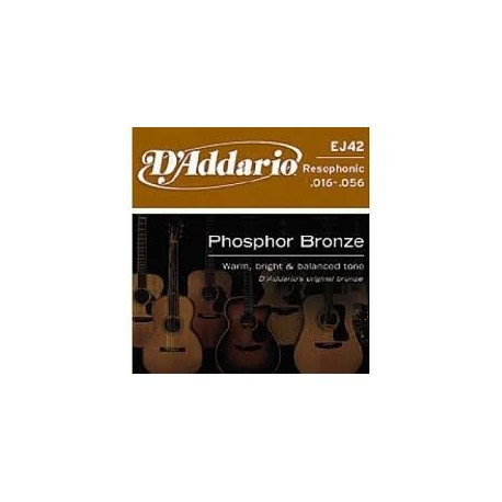 D'Addario J42 Phospore Bronze Muta Corde Resophonic